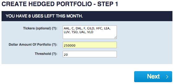 Using stocks and options to create a risk free hedge portfolio