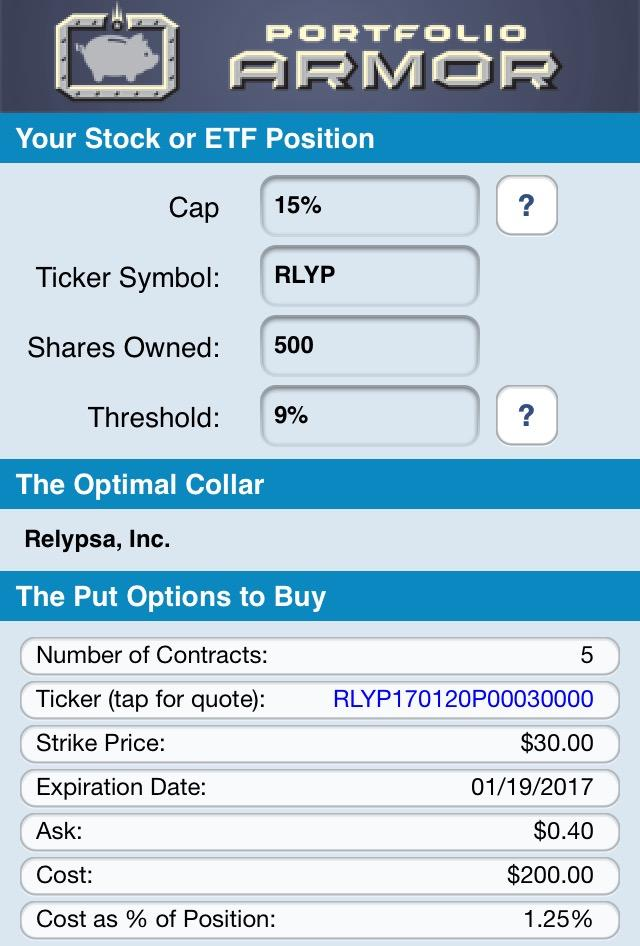 Rlyp stock options