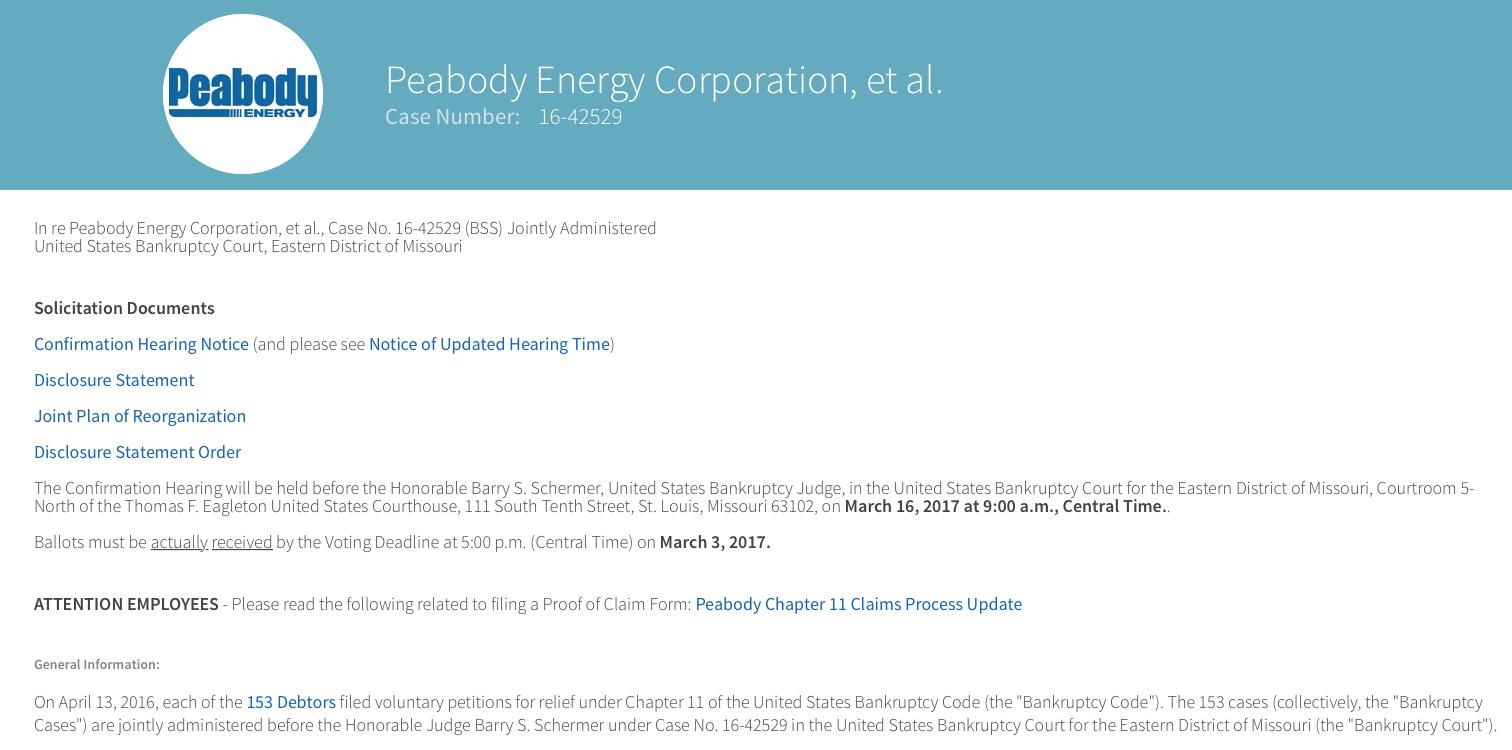 Peabody energy corp ipo
