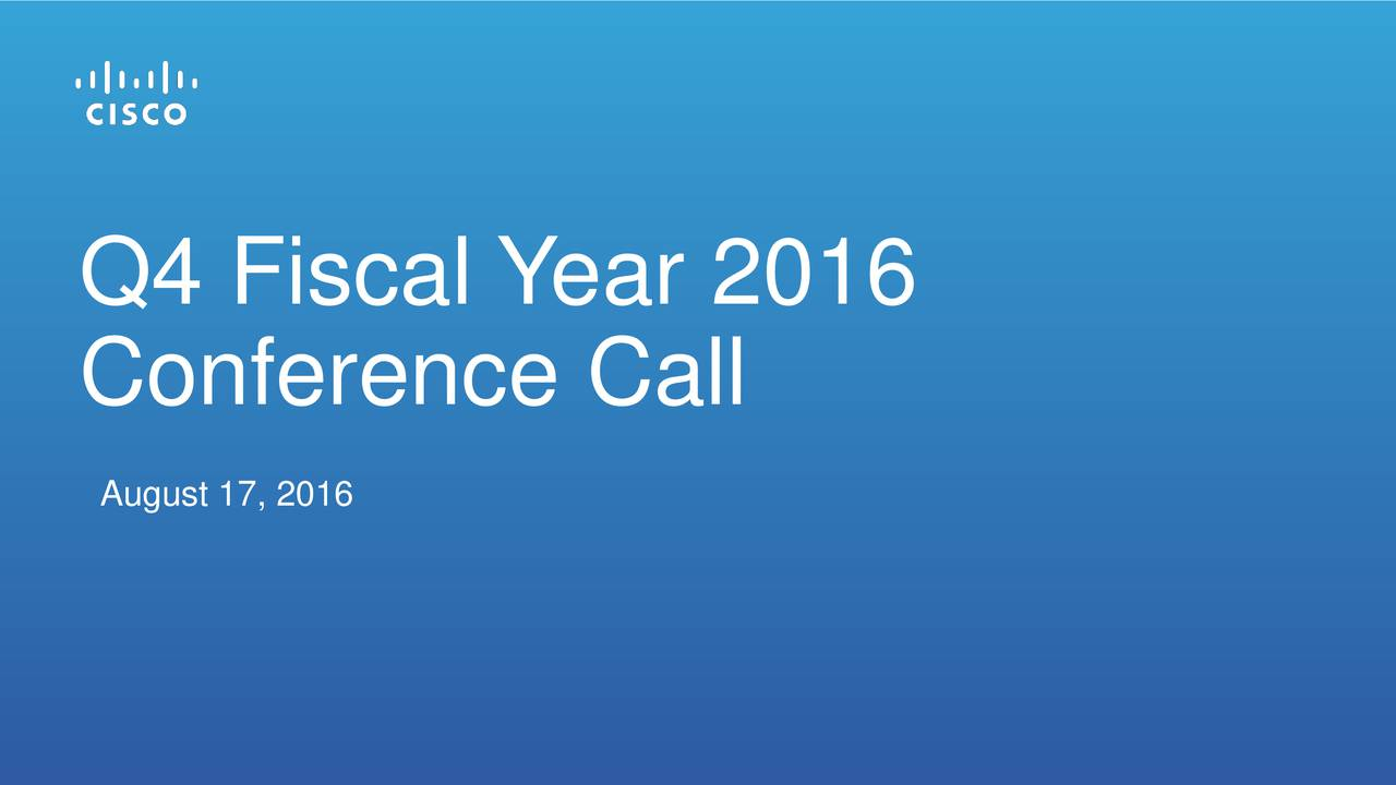 Conference Call August 17, 2016