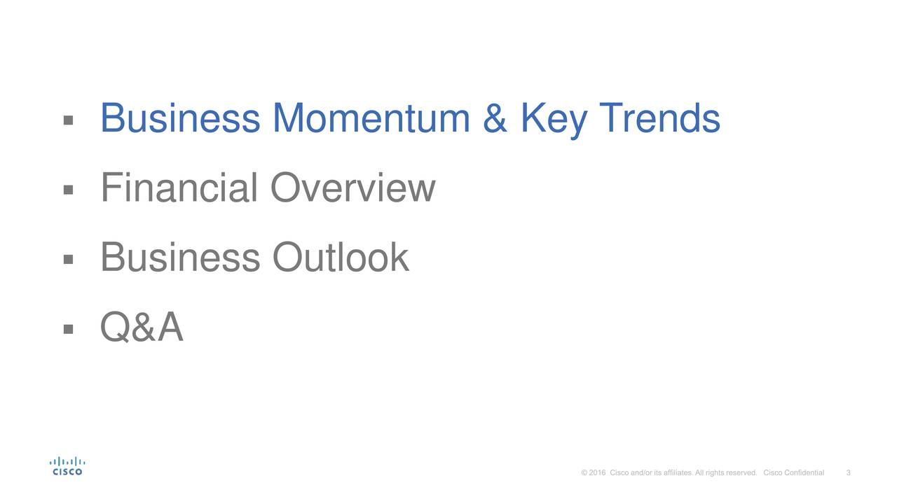 Financial Overview Business Outlook Q&A