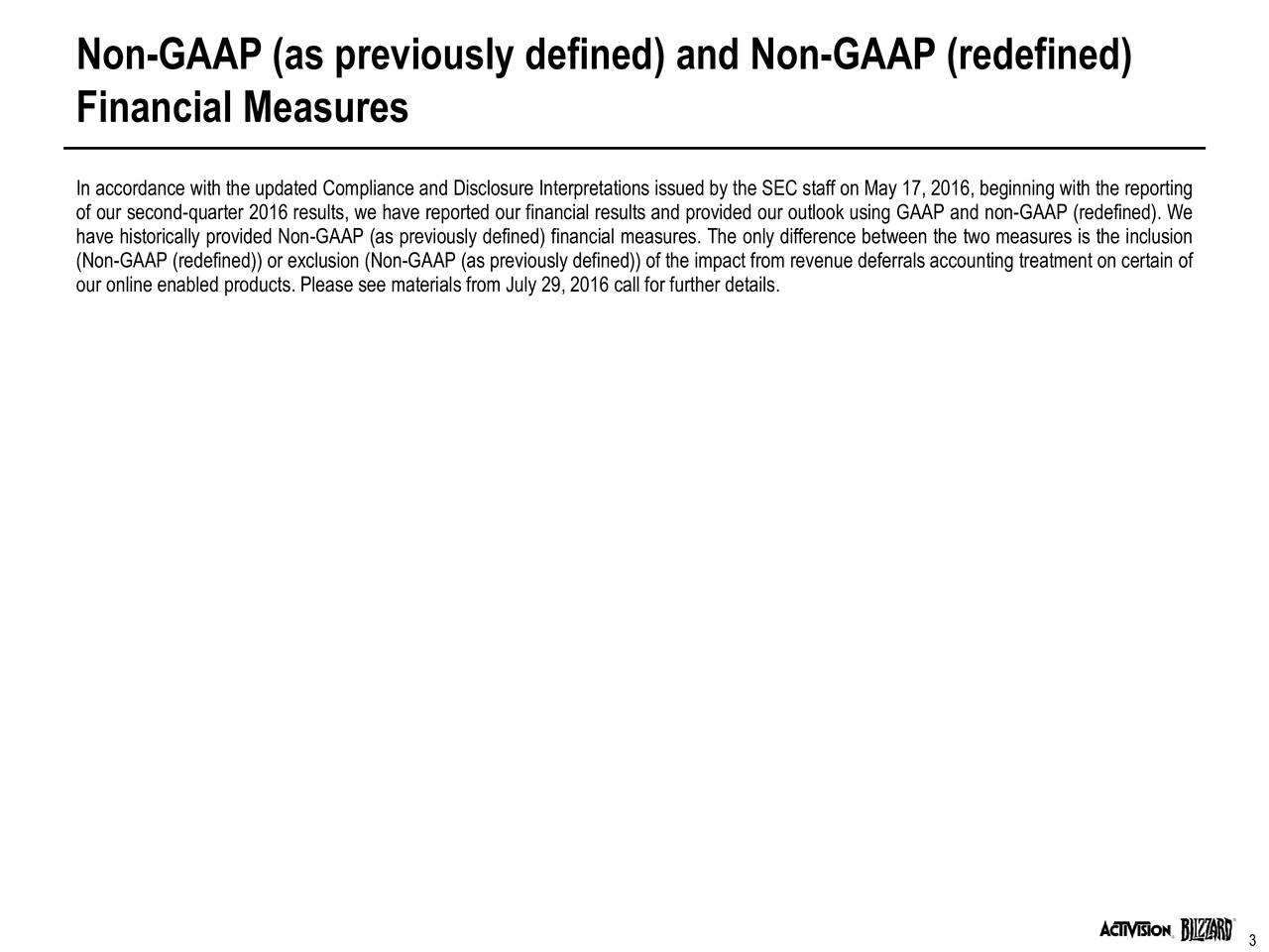 Disclosure Interpretations On Non Gaap Financial Measures ...