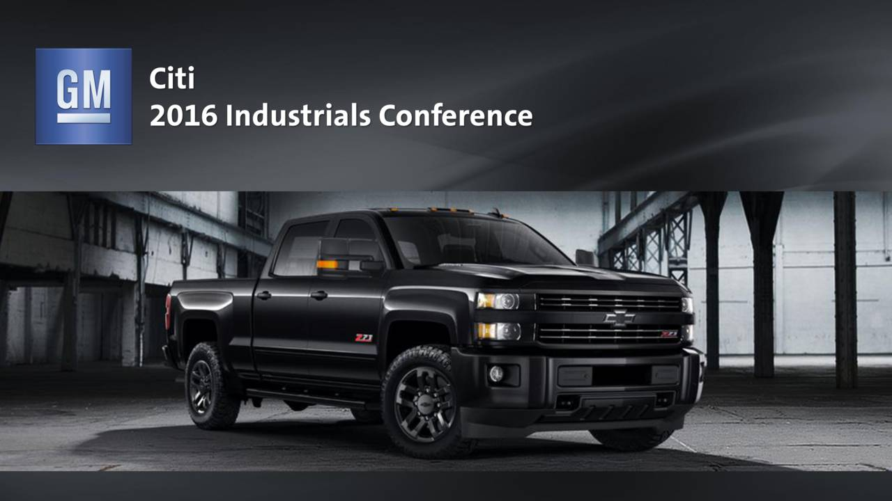 2016 Industrials Conference