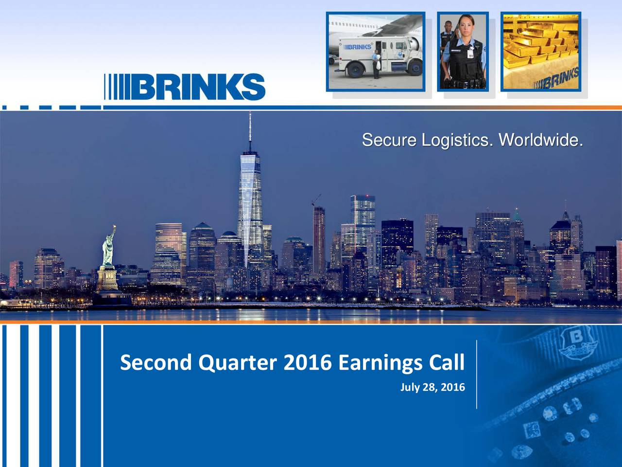 Second Quarter 2016 Earnings Call July 28, 2016