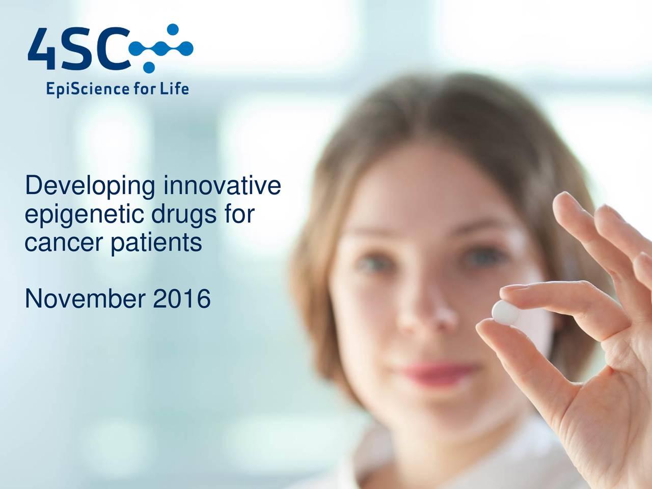 epigenetic drugs for cancer patients November 2016