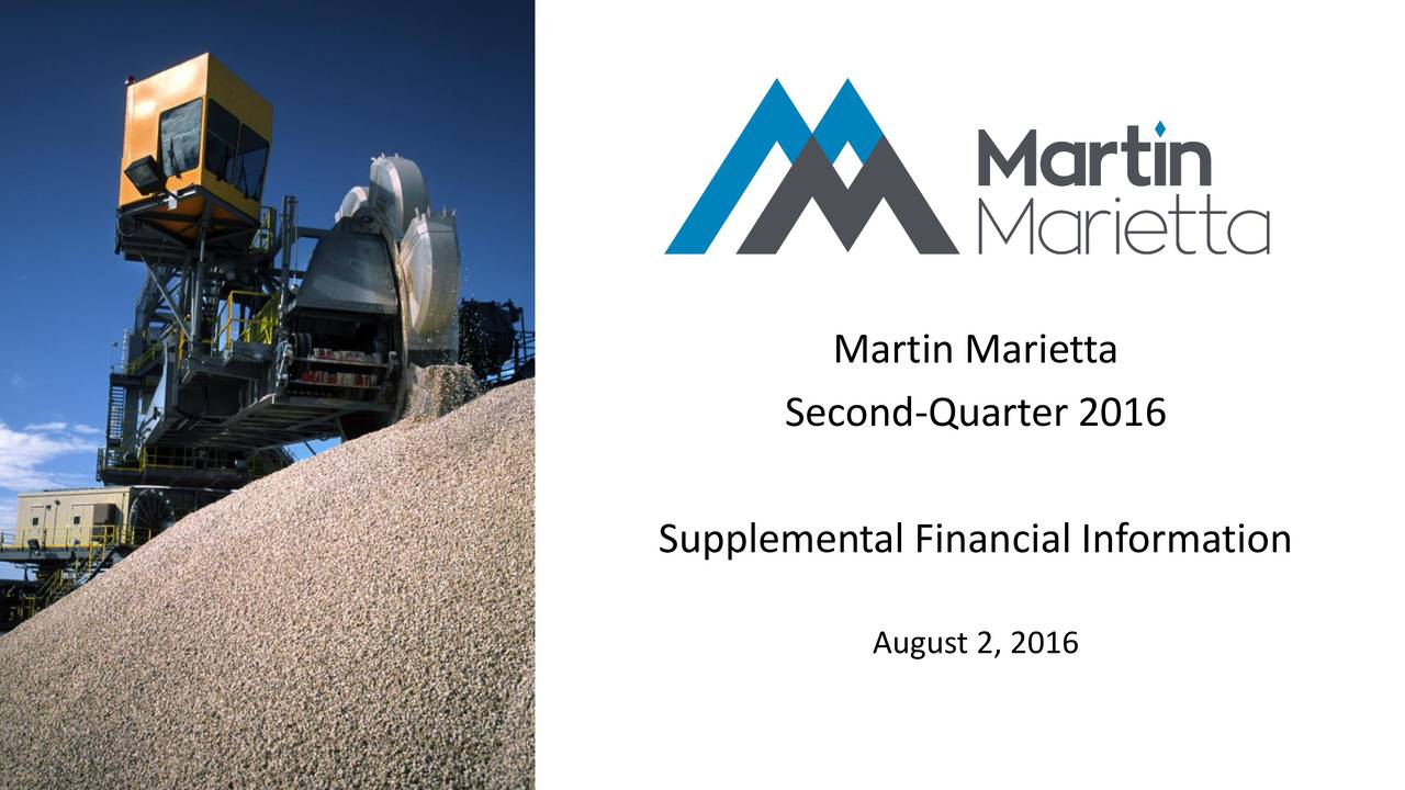Second-Quarter 2016 Supplemental Financial Information August 2, 2016