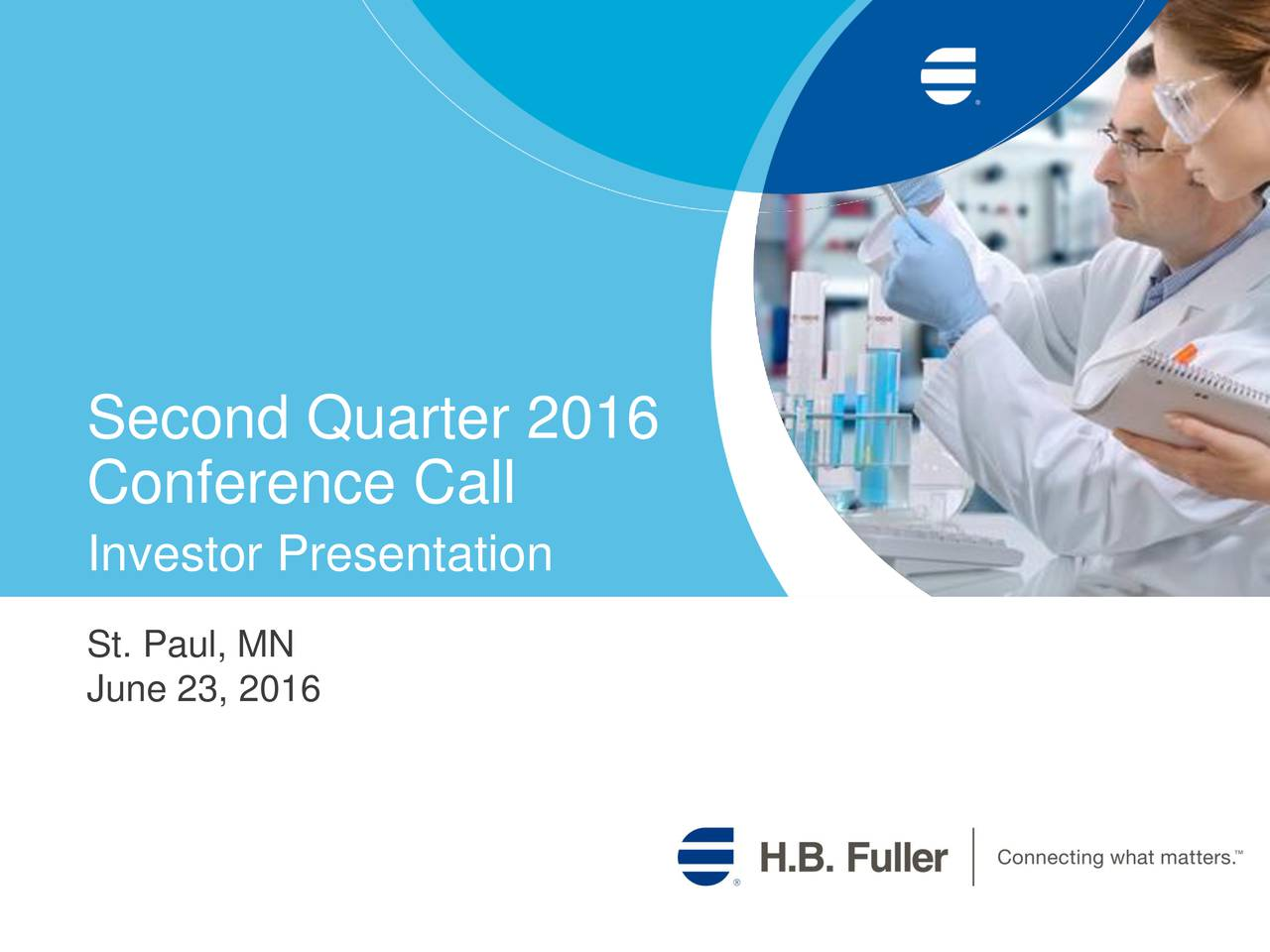 Conference Call Investor Presentation St. Paul, MN June 23, 2016