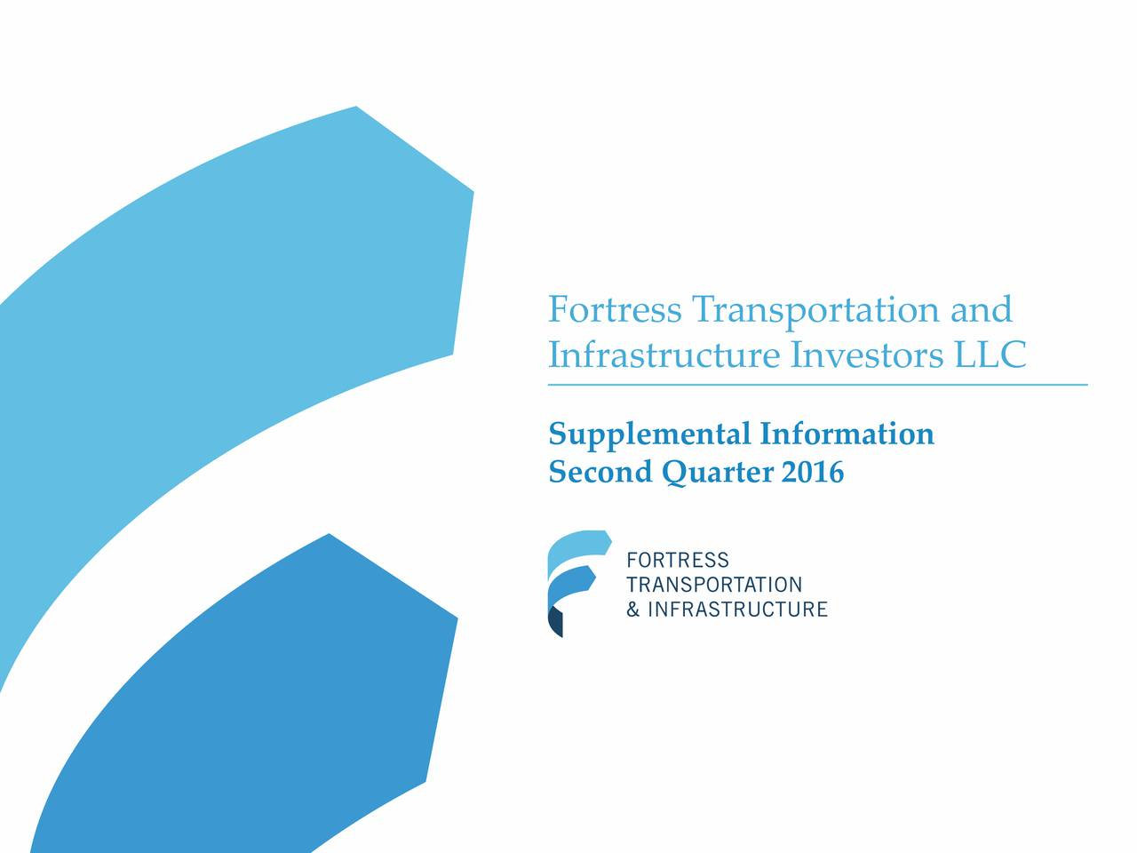 Infrastructure Investors LLC Supplemental Information Second Quarter 2016