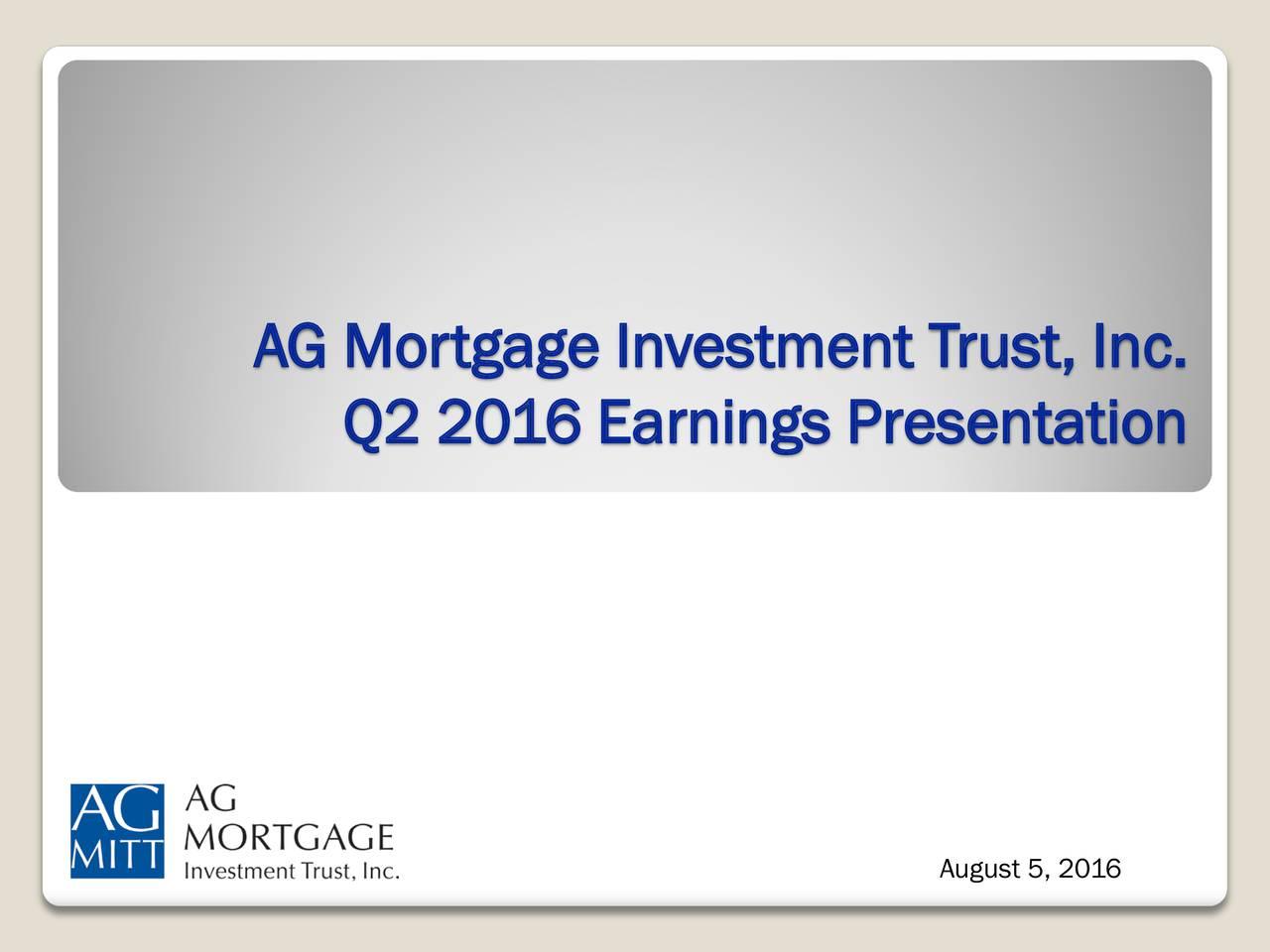 Q2 2016 Earnings Presentation August 5, 2016